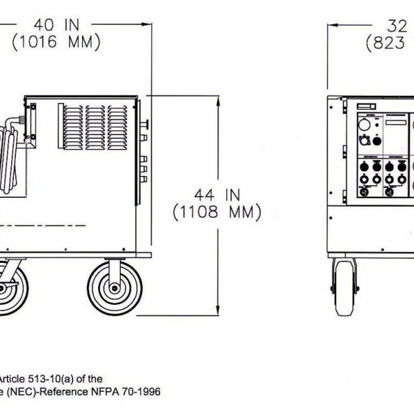 Unitron Ground Power unit 37kVA Diagram