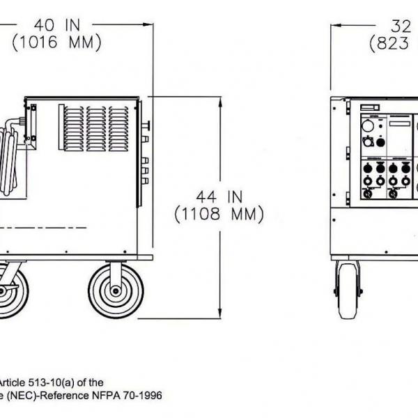 Unitron Ground Power unit 37kVA Diagram