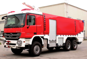 Actros Fire Truck side view
